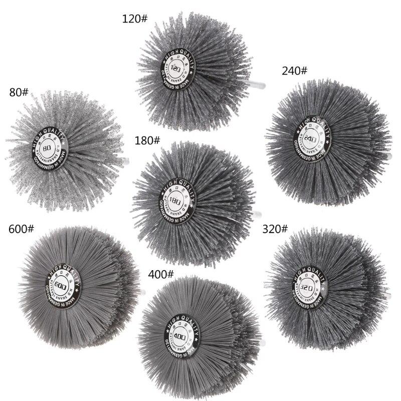 Deburring Abrasive Silicon Carbide Wire Brush Flower Head Polishing Wheel Shank