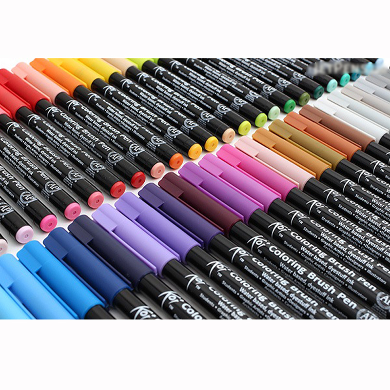 JIANWU  1pc Japan Sakura KOI Waterborne Soft Head Mark Pen Brush Pen Halo Dyeing Color Mixing Brush Letter