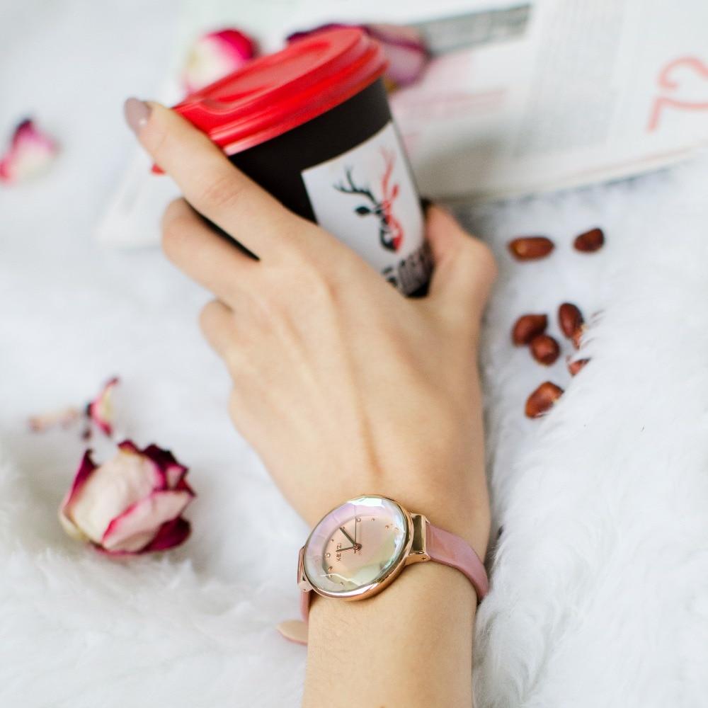 Kvinde elegante læder ure 2018 luksus kvinder ure top mærke diamond - Dameure - Foto 5