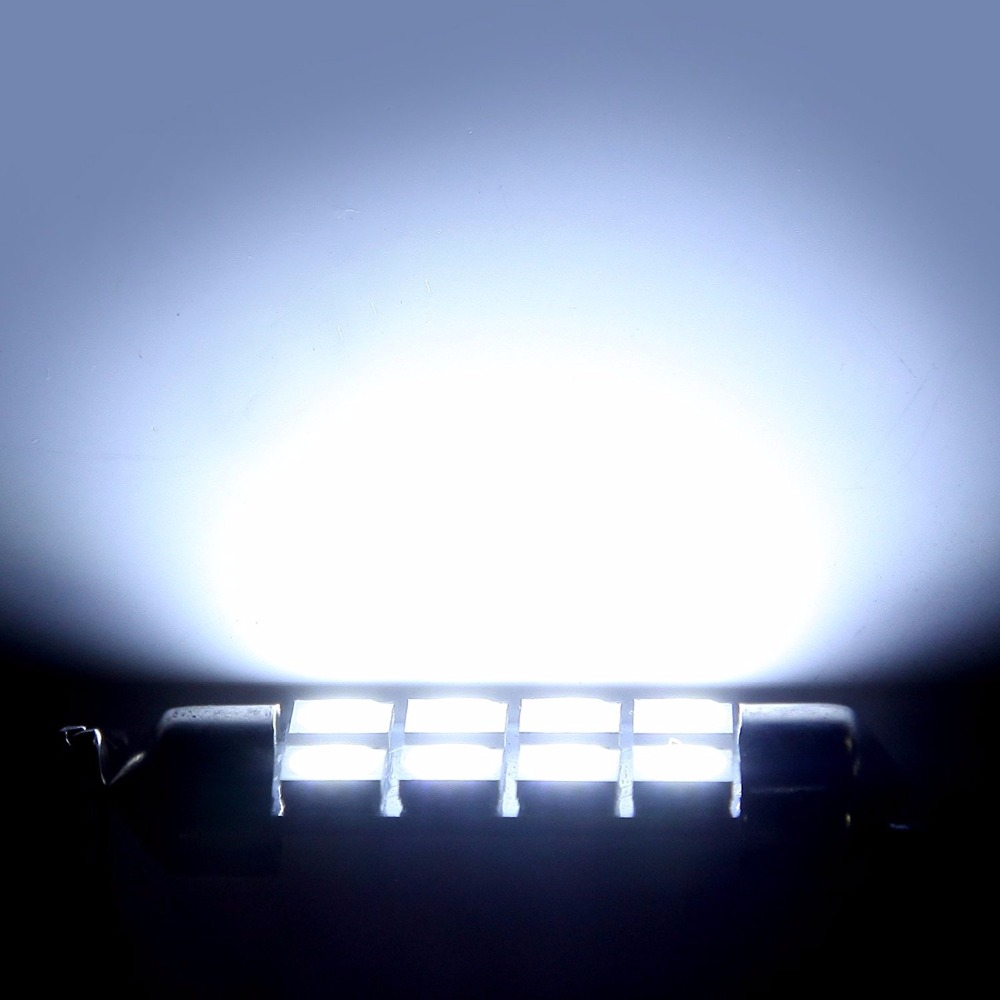 Image 4 - Sell 10pcs 42mm 8SMD 6500K Car Interior Light Festoon LED Interior Map Dome Door Lights Bulbs 211 2 578Color White-in Signal Lamp from Automobiles & Motorcycles