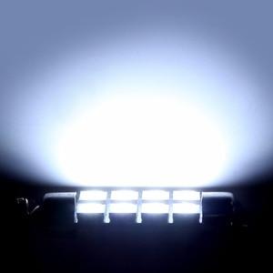 Image 4 - Verkauf 10 stücke 42mm 8SMD 6500K Auto Innen Licht Girlande LED Innen Karte Dome Tür Lichter Lampen 211  2 578 farbe Weiß