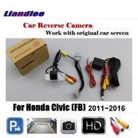 Liandlee Car Rearview Reverse Parking Camera For Honda Civic (FB) 2011~2016 Display / HD CCD Rear View Backup Back Camera