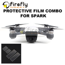 Sunnylife 4pcs/set Protective Film Combo 2pcs Lens Film + 2pcs Drone Body Screen Film for DJI SPARK