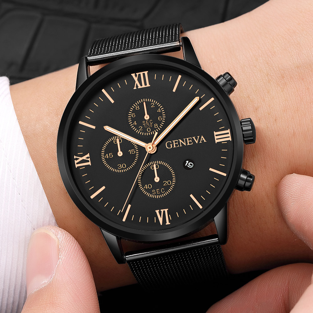 2019 Top Brand Luxury Men's Watch Fashion Stainless Steel Men Military Sport Analog Quartz Wrist Watch With Calend relogios