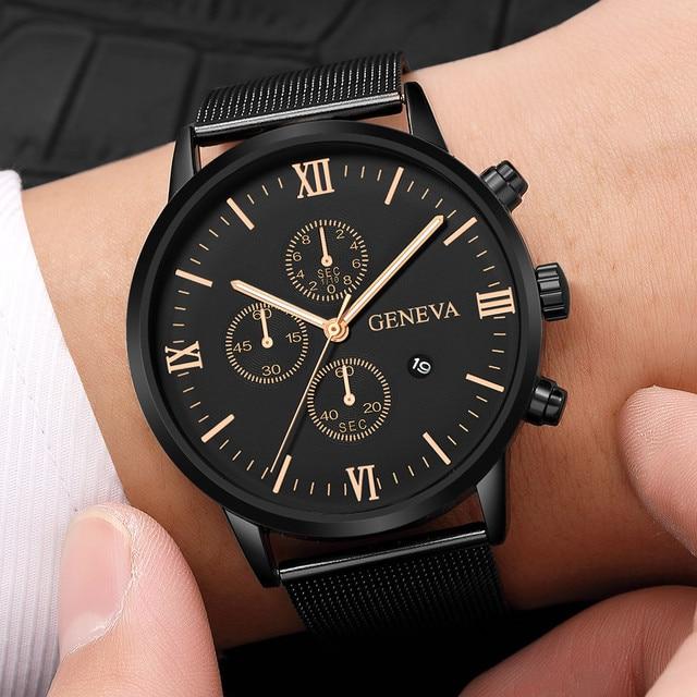 2019 Top Brand Luxury Men's Watch Fashion Stainless Steel Men Military Sport Analog Quartz Wrist Watch With Calend relogios