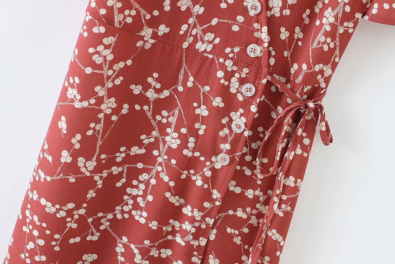 Summer women dress elegant vintage beach dress short sleeve causal sexy wrap long dress boho korean vestidos 9