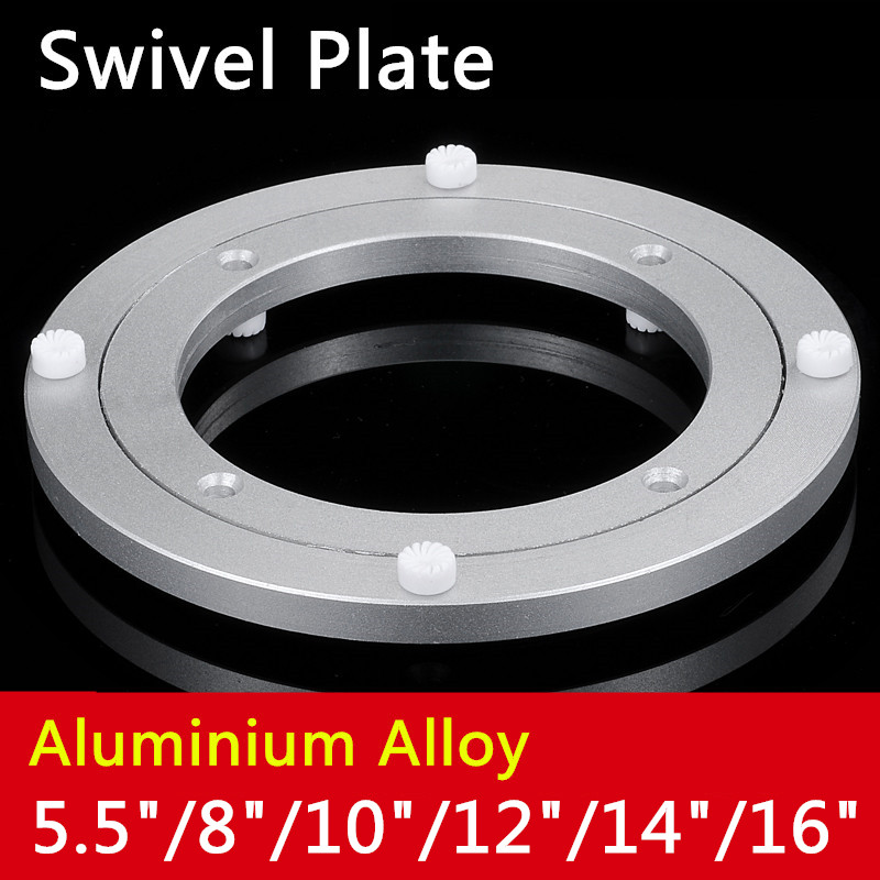 14cm/20cm/25cm/30cm/35cm/39.5cm Aluminium Alloy Small Lazy Susan Turntable Dining Table Swivel Plate for Kitchen Furniture