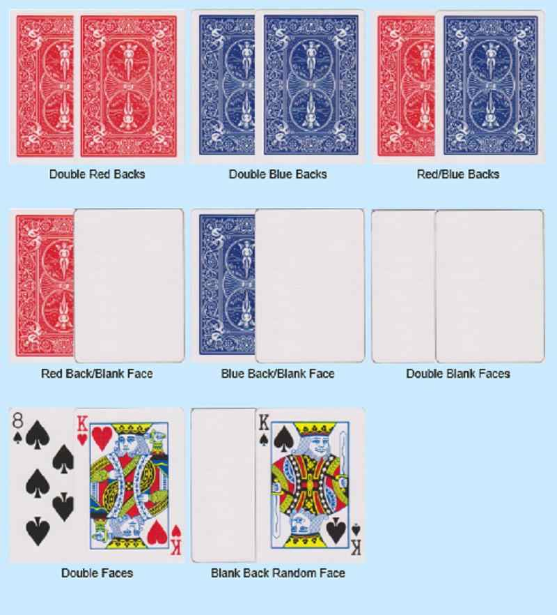 8 шт Magic велосипедов специальные багор карты фокусы красный/синий, двусторонний материал/назад/пустой, лицо/пустой для принадлежности для фокусника