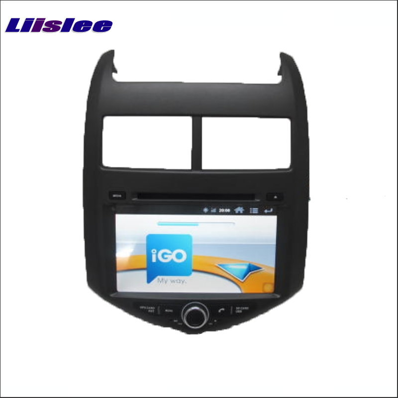 Liislee pour Chevrolet Aveo Sonic/pour Holden Barina 2011 ~ 2016 autoradio lecteur CD DVD Navigation GPS système multimédia Android