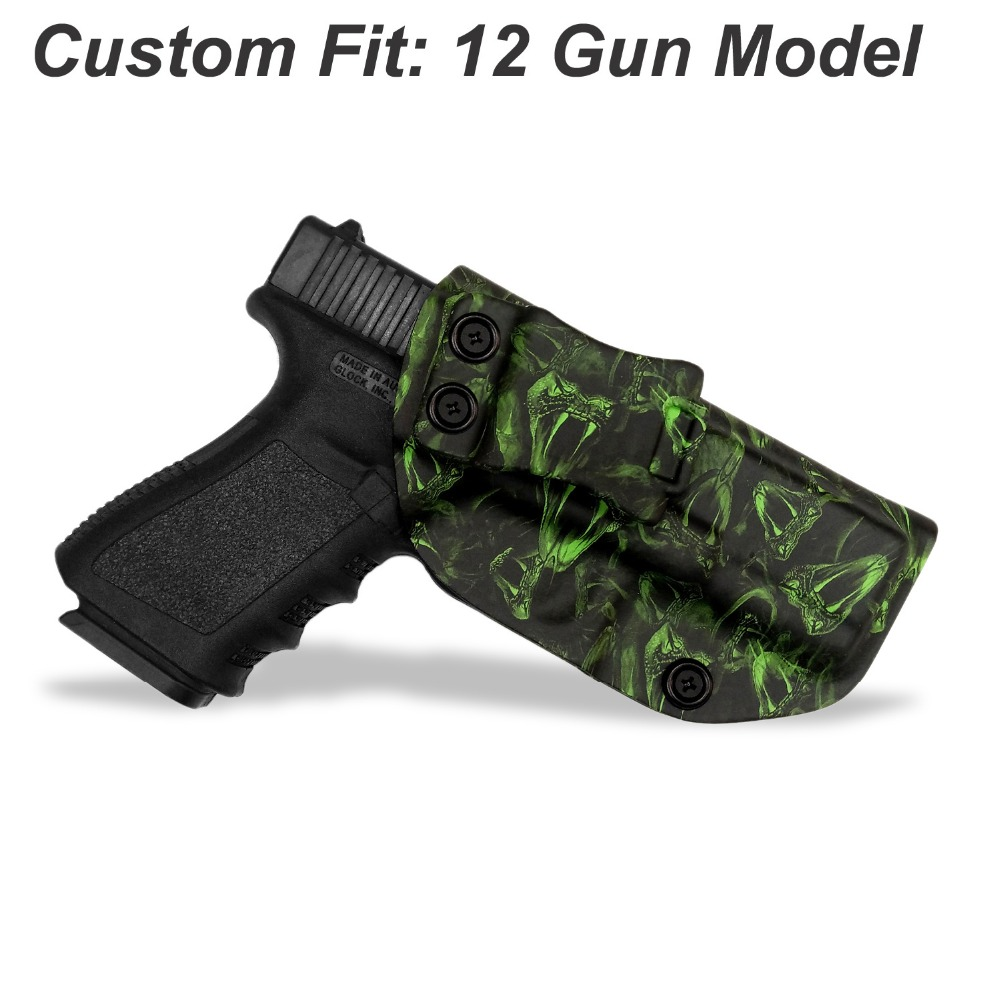 B B F Make Snake Totem IWB KYDEX Gun Holster For Glock 19 17 22 23