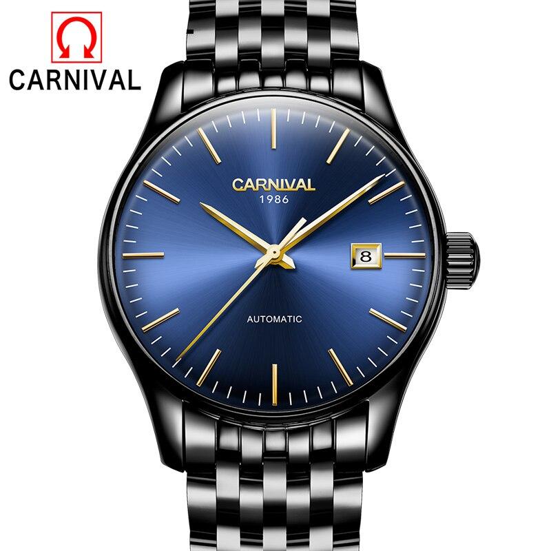 2017 New Men Watch Wrist Original Movement Luxury Top Brand CARNIVAL Automatic Fashion Male Mechanical Watches Relogio Masculino