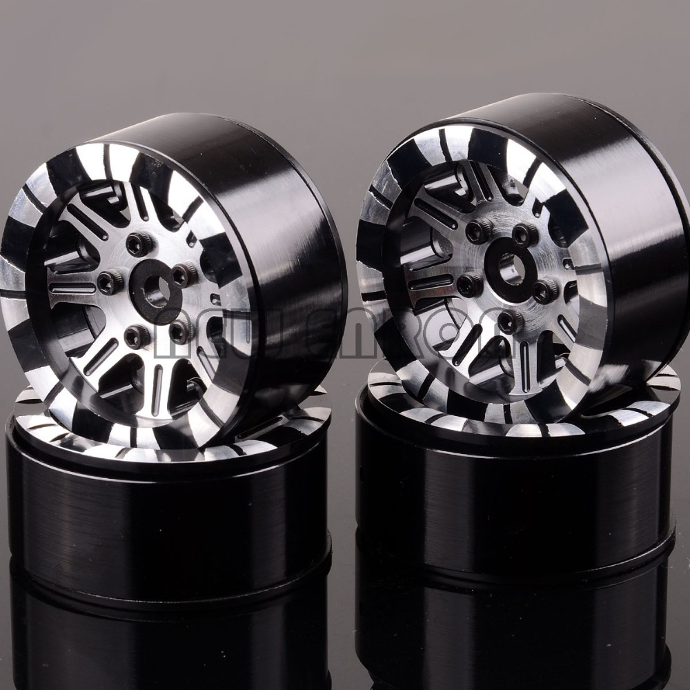 NEW ENRON 4PCS CNC 1/10 Aluminum 1.9 Beadlock Rims 1069 For RC 1:10 Rock Crawler TRAXXAS D90 TRX-4 TRX4