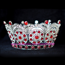 Miss Universe crown 2009 Miss Venezuela Bigger size Royal Sparkly Rhinestones Silver Plated Tiaras And Crowns Bride Bride