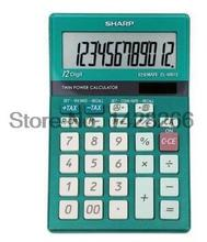 Sharp EL-M812B Colorful 12 Digites Desktop Calculator Finance Business Dedicated Calculadora Cientifica As Gift Free shipping