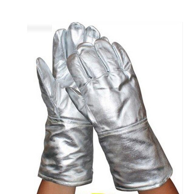 Aluminum Foil Gloves Insulate Heat Radiation Heat Insulation 1000 Degree High Temperature Working Thermal Radiation Glove