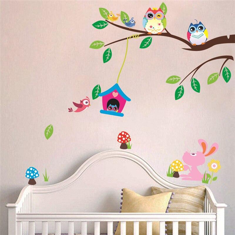bho etiqueta de la pared para nios dormitorio nursery pegatinas paredes multicolor rama de rbol decoracin