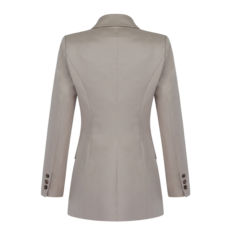Blazers Manches Mode 2018 Formelle Nouvelle cou À Double Beateen Bouton Hiver Breasted Apricot Automne Longues V tqOxagPw