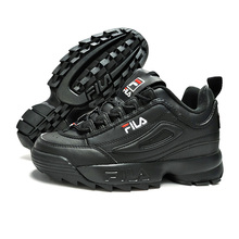 b87433104d Black Fila Disruptor II 2 Sneakers Women Running Shoes 2019 New Sneakers  Women Light Thick bottom