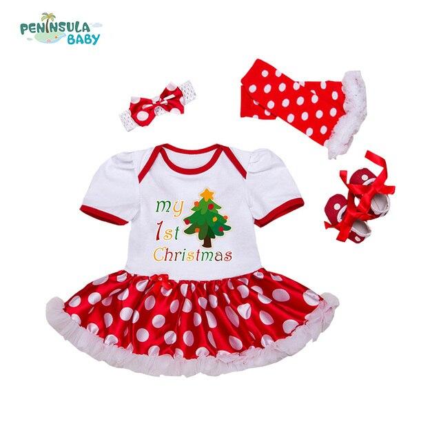 huge selection of b43a9 f9ada US $17.37 |Neugeborenen Weihnachten Kleidung Babys Kleidungssatz Meine  Erste Weihnachten Baby kleidung Set Rüsche Tutu Kleid Neugeborenes Baby ...