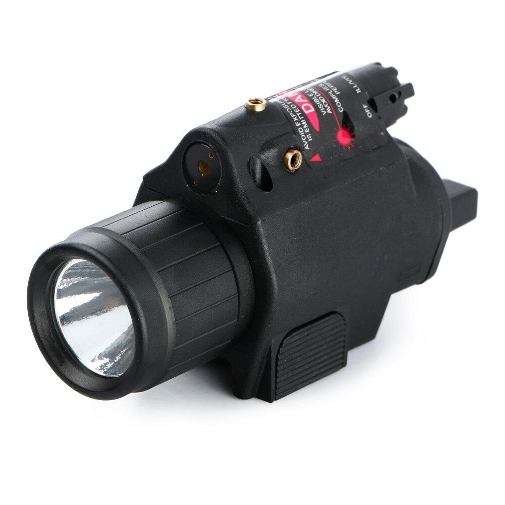 LED Tactical Insight 300 Lumen Red Laser Flashlight For Pistol Gun 3 Modes