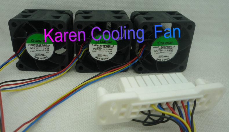 SUNON 4CM PMD1204PQB1-A 4028 12V 2.6W B1149-2FGN 800-34175-01 4Wire Cooling Fan a set of 3pcs delonghi fgn 4