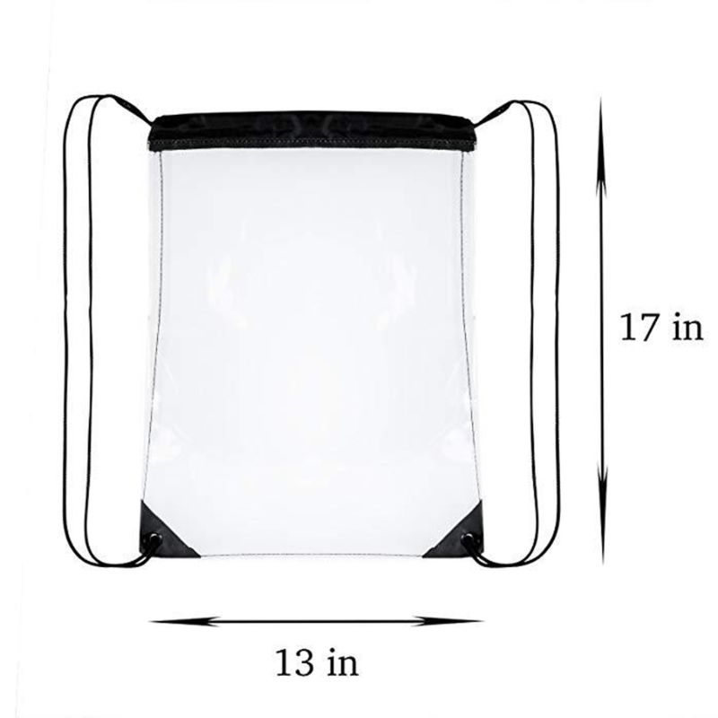 Купить с кэшбэком Premium Quality New Transparent Drawstring Backpack Cinch Sack School Tote Gym Bag Sport Pack
