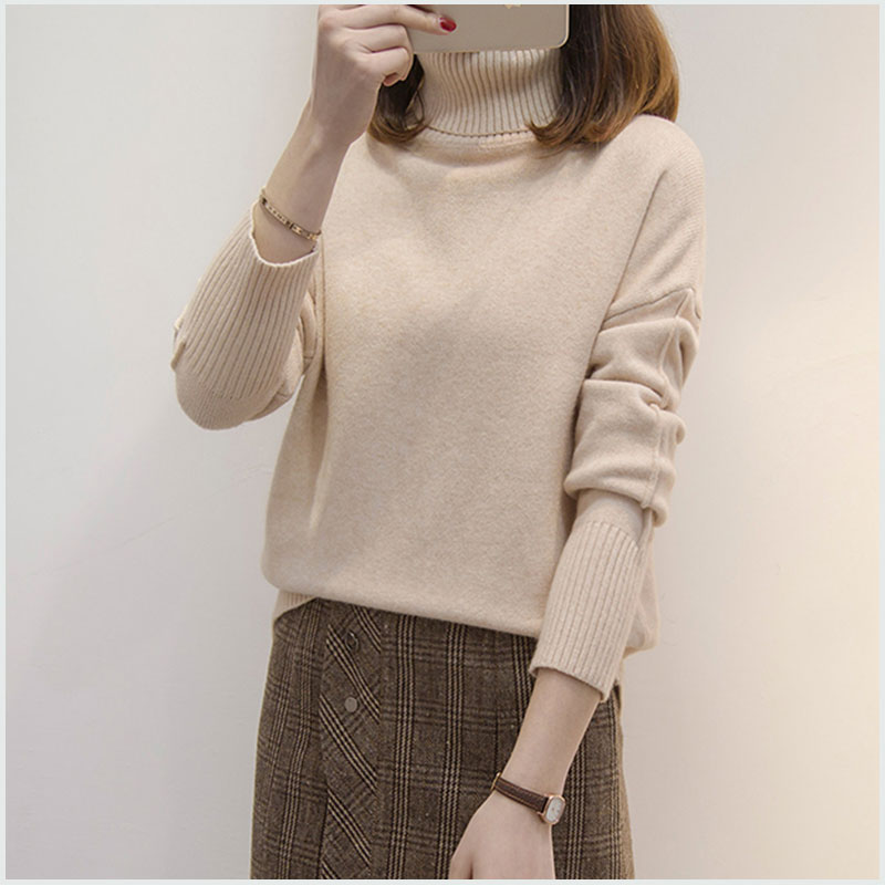 Turtleneck Knit Sweater Large Size 5xl 2018 New Women Sweaters Fashion Cashmere Sweater Women Knitted Pullovers Loose Tops