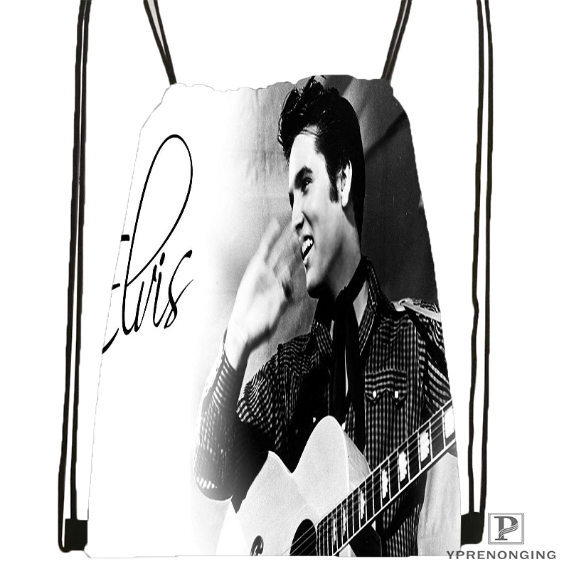 Custom Elvis Presley Tutte Drawstring Backpack Bag Cute Daypack Kids Satchel (Black Back) 31x40cm#180531-03-30