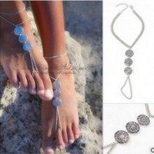 Корейская версия личности Модные украшения пляжные Турции ножной браслет символ ретро металл Id перчатки Чешский ножной браслет