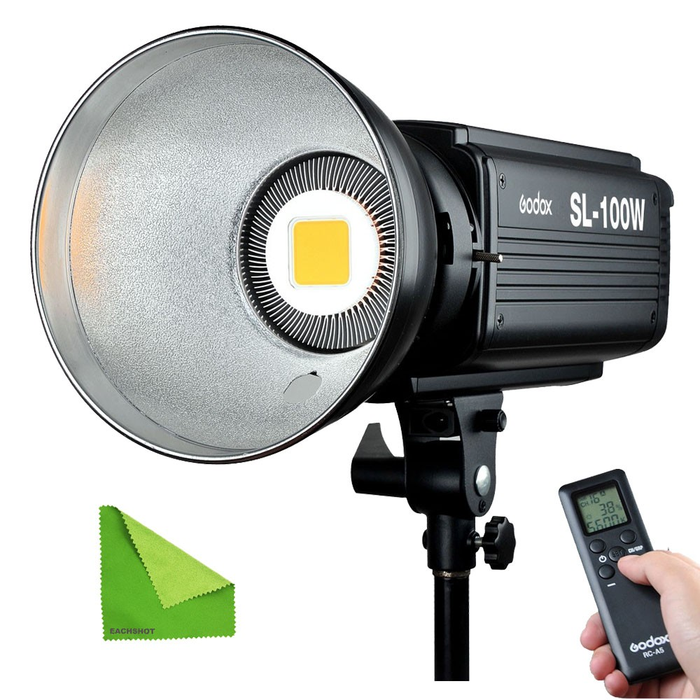 Godox SL100W 5600K Studio Continuous LED Video Light 100W  high Brightness Bowens Mount Lamp Photographic Lighting With Remote