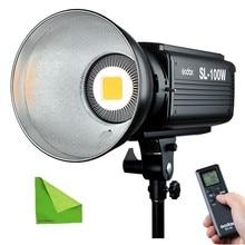 Godox SL100W 5600K Studio Continuous LED Video Light 100W  high Brightness Bowens Mount Lamp Photographic Lighting With Remote цена