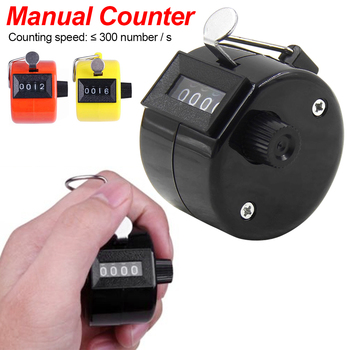 Plastic mechanical manual counter 4 Digit Counters Manual Counting Tally Clicker Timer Soccer Golf Counter Counters