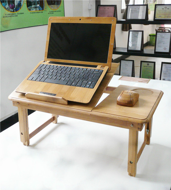Natural bamboo laptop desk bed computer desk bamboo table laptop table bed  table - Table Chai Picture - More Detailed Picture About Natural Bamboo