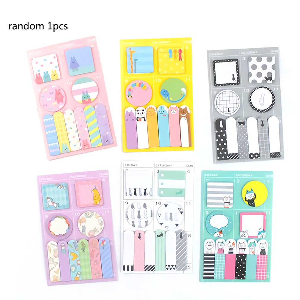 The Hot Style Funny Cartoon Sticky Note Self-Stick Notes Easy Affixed To Children Sticky Note Office Memorandum Stickers image