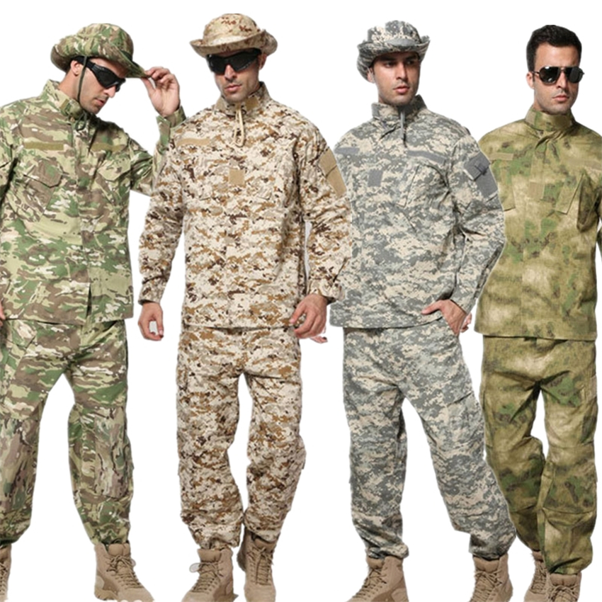 10Color Military Uniform ACU Special Forces Tactical Men Army Militar Soldier Combat High Quality Camouflage Clothes Pant Set
