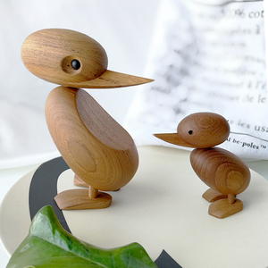 Image 5 - The Danish puppet woodcarving classic creative Home Furnishing ornaments small duck soft decoration housing study desktop decora