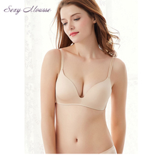 Sexy Mousse wirefree bra thin cup brassiere small chest gather push up smooth young girl underwear women invisible Bras