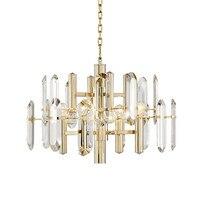 Modern Luxury Crystal Pendant Light New Pendant Lamp Fixture Gold Lighting Suspension New for Living Room Dinning Room Lamp B042