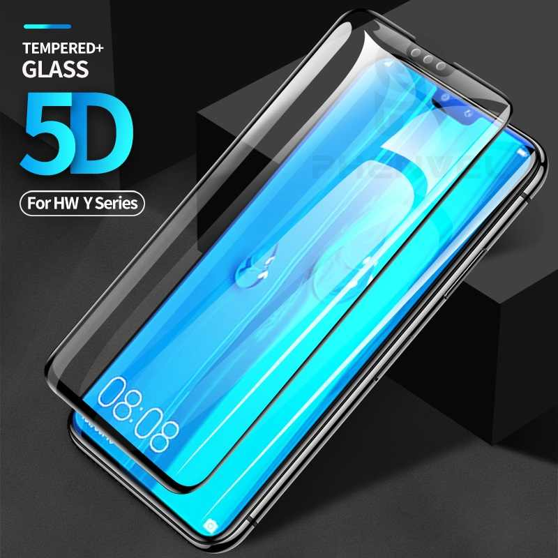 5D Protective glass for Huawei Y9 Y7 Y6 Prime 2018 Full Cover Screen protector for Huawei Y9 Y7 Pro 2019 tempered glass film