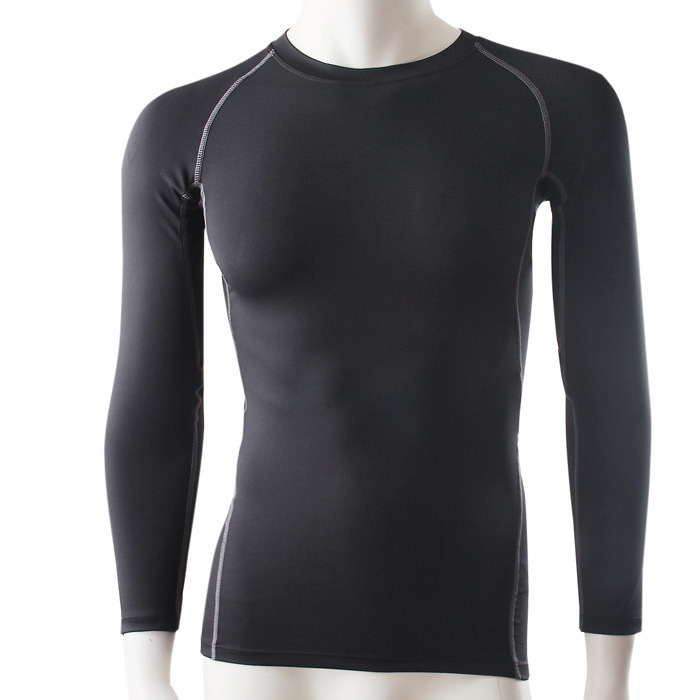 Hot PRO Men Form Fitting Long Sleeve T Shirts Quick Dry ...