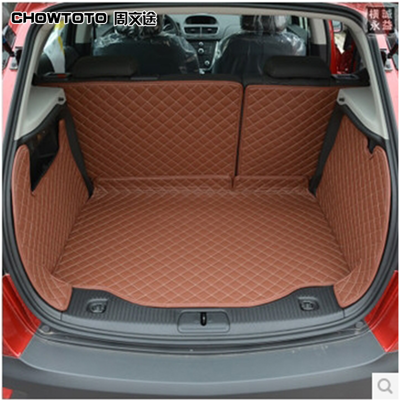 CHOWTOTO AA Special Trunk Mats For Opel Mokka Car Trunk Mat+Back Mats+Two Sides Mats Mokka Durable Waterproof Car Luggage Pad special car trunk mats for toyota all models corolla camry rav4 auris prius yalis avensis 2014 accessories car styling auto
