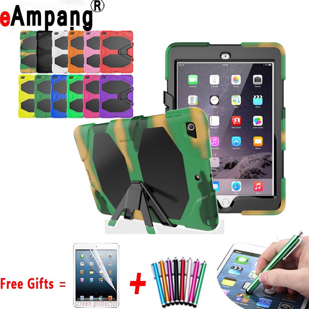 For Apple iPad 9.7 2017 Case Silicone Kids Safe Armor Shockproof Hard Back Cover For New iPad 9.7 2017 Case Cover A1822 A1823 for ipad mini4 cover high quality soft tpu rubber back case for ipad mini 4 silicone back cover semi transparent case shell skin