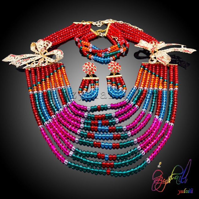 Yulaili Attractive Jewelry Set Women Find Beaded Jewelry SetYulaili Attractive Jewelry Set Women Find Beaded Jewelry Set