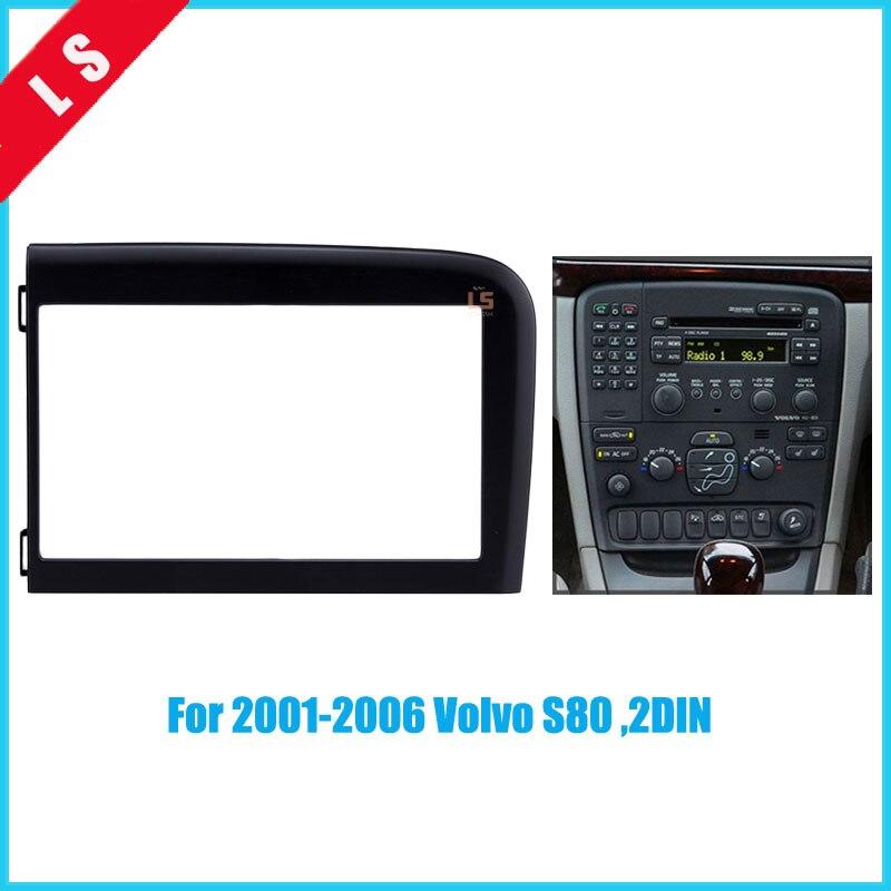 2 DIN Voiture Repose Frame Panel Pour Volvo S80 2001-2006 Radio Stéréo CD Lecteur DVD NAVI Navigation/tableau de bord ABS Fascia Kits2Din
