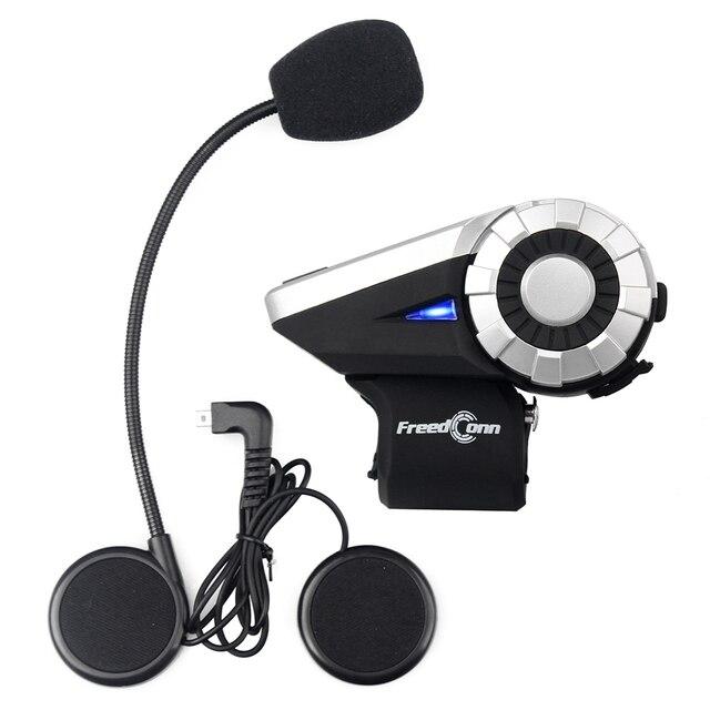 8-Way Freedconn T-rex 1500 M BT Interphone FM Radio Bluetooth Intercomunicador Del Casco de Auriculares de La Motocicleta Sistema de Grupo de Conversación