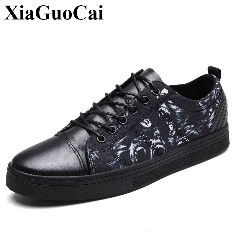 New Fashion Canvas Shoes Men Casual Shoes Classic Round Toe Lace-up Flat Shoes Anti-skid Wear-resistant Skate Shoes H491 35 hot sale men s shoes casual shoes for men winter autumn low top patchwork canvas fashion lace up mens classic casual shoes