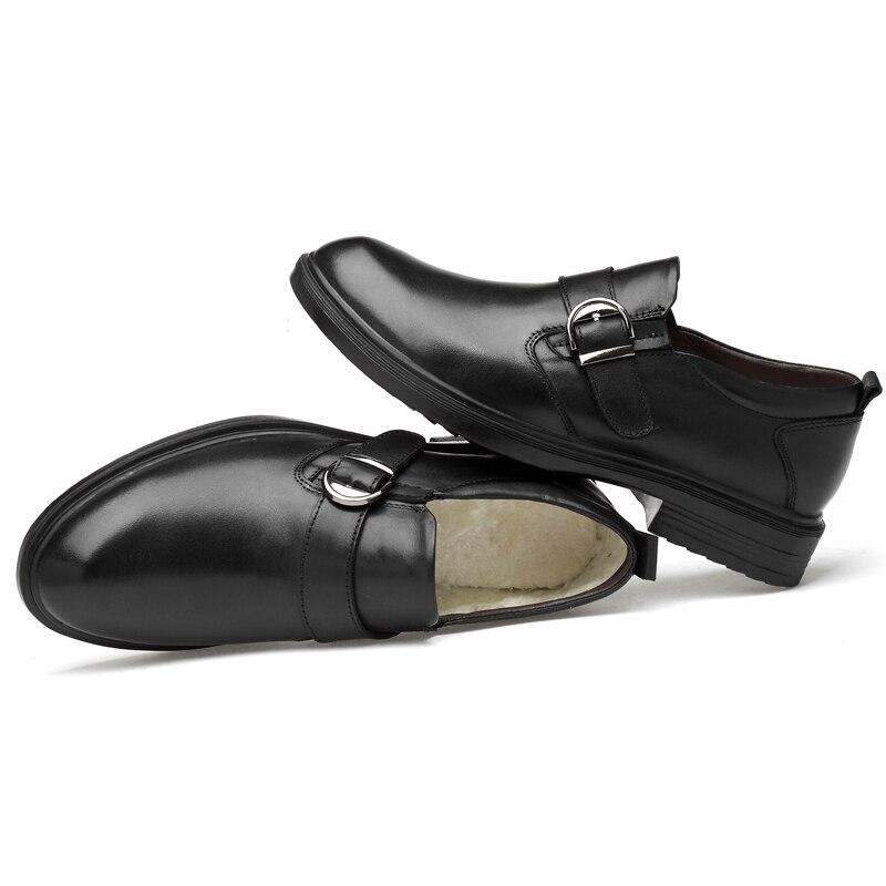 Hommes Oxfords 49 Noir La De Fourrure Noir Formelle Cuir Phragmites ardoisé D'affaires Hiver Confortable En Plus Taille Chaussures Chaud q8nRxtfO