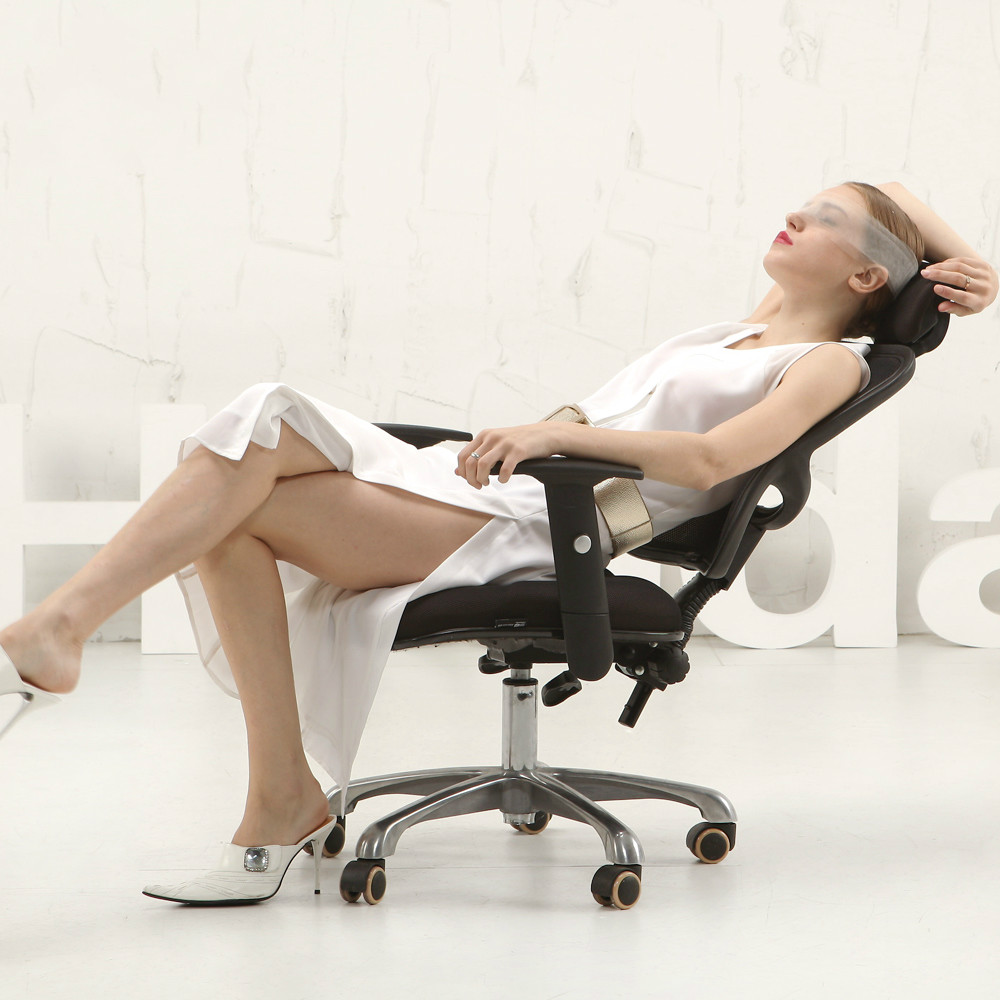 Ergonomic Computer Gaming Chair Office Chair Lengthen Mesh Backseat Swivel Adjustable Back Cushion Thickened Sponge sedieufficio 240335 computer chair household office chair ergonomic chair quality pu wheel 3d thick cushion high breathable mesh