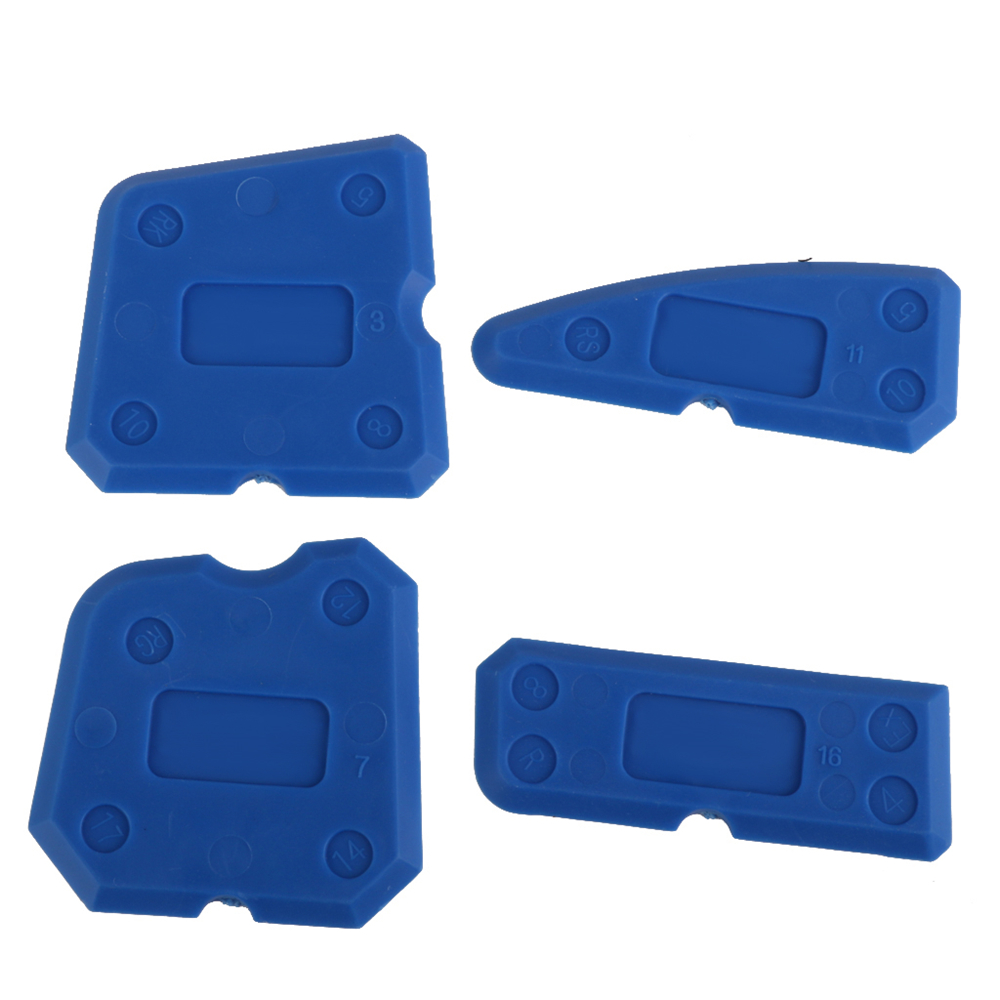Bathroom caulk remover - New Hot Caulking Tool Kit Joint Sealant Silicone Grout Remover Scraper 4pcs Blue Hand Tools Free