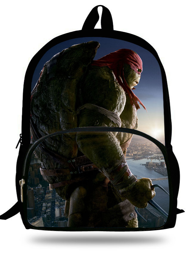 Us 17 59 Off Cool 16 Inch Mochila Age Mutant Ninja Turtles Backpack Kids School Bags For Boys Children Backpacks Cartoon 7 13 In